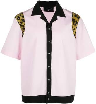 DSQUARED2 colour-block short-sleeve shirt