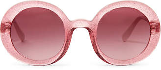 Miu Miu SMU06U Pink & White Round Sunglasses