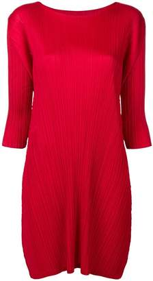Pleats Please Issey Miyake three-quarter sleeved dress
