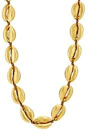 TOHUM DESIGN Women's Large Shell Necklace - Gold