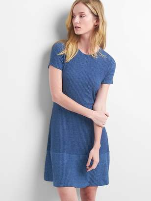 Gap Ribbed Softspun Fit and Flare Dress