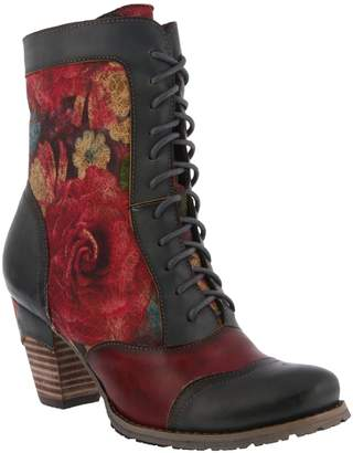 Spring Footwear Floral Lace-Up Bootie