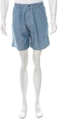 MAISON KITSUNÉ Chambray Flat Front Shorts w/ Tags