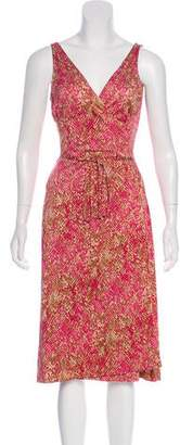 Diane von Furstenberg Sleeveless Abstract Print Dress
