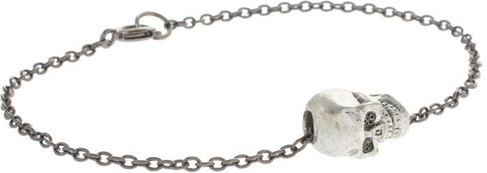 ASOS Skinny Bracelet With Skull Charm