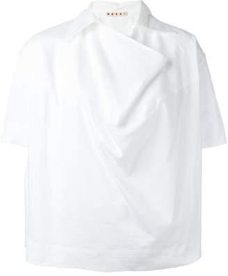 Marni oversized neckline shirt