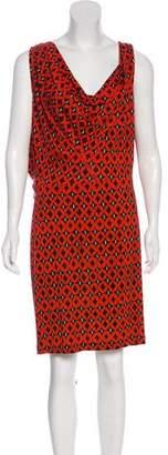 Diane von Furstenberg Keesa Silk Printed Dress