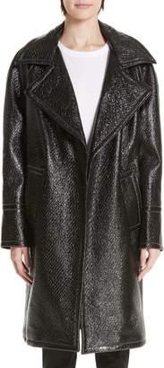 Yigal Azrouel Oversized Laminated Tweed Coat