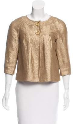 MICHAEL Michael Kors Linen-Blend Metallic Jacket