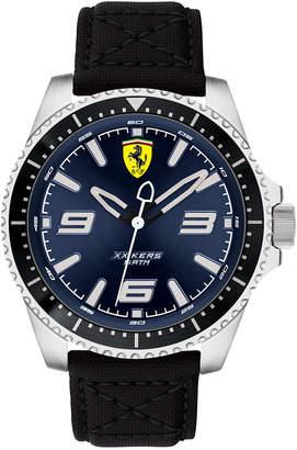 Ferrari Men Xx Kers Black Nylon Canvas Strap Watch 44mm