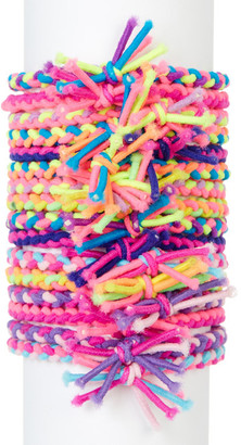Berry Friendship Bracelet Hair Ties - Pack of 16 $14.97 thestylecure.com