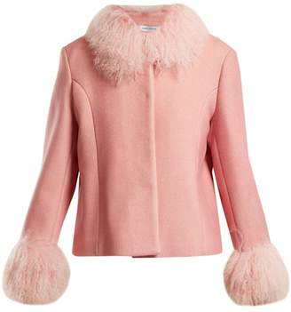 Saks Potts - Dorthe Fur Trimmed Wool Jacket - Womens - Pink
