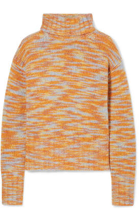 Parker Sies Marjan Wool And Silk-blend Turtleneck Sweater - Peach