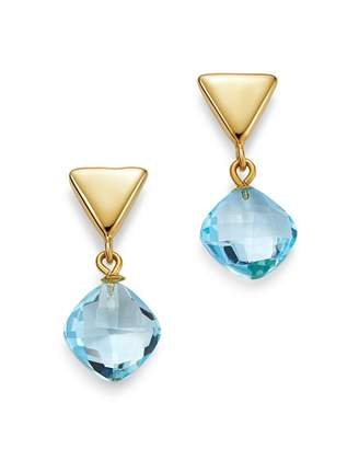 Bloomingdale's Blue Topaz Triangle Drop Earrings in 14K Yellow Gold - 100% Exclusive