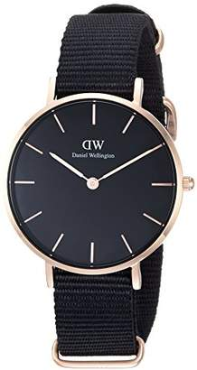 Daniel Wellington Classic Petite Cornwall in Black 32mm