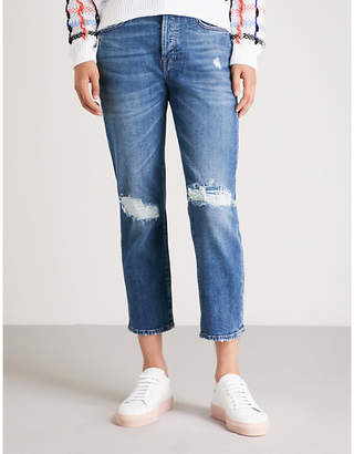 7 For All Mankind Josefina distressed stretch-denim jeans