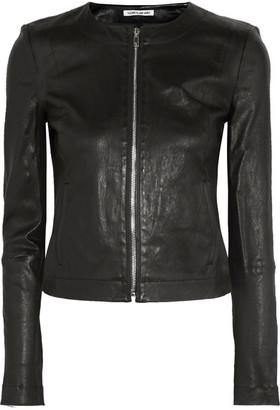 Elizabeth and James - Helen Stretch-leather Jacket - Black $995 thestylecure.com