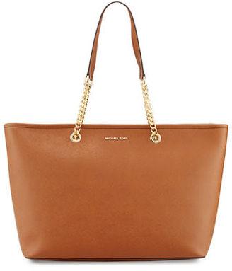 MICHAEL Michael Kors Jet Set Travel Medium Chain Leather Tote Bag $298 thestylecure.com