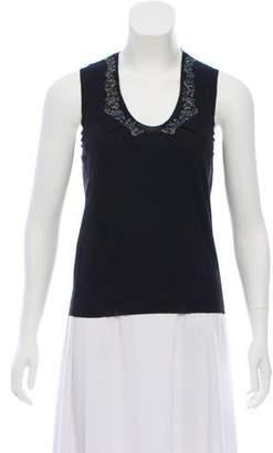 Saint Laurent Sleeveless Knit Top