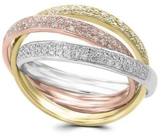 Effy 14K White, Yellow Rose Gold 0.52 CT. T.W. Diamond Ring