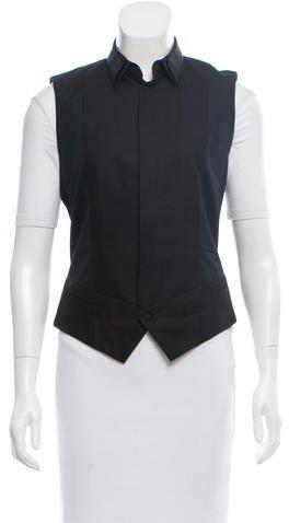Barbara BuiBarbara Bui Collared Button-Up Vest