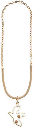 RED Valentino Long Flying Bird Necklace