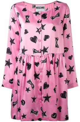Moschino heart print dress