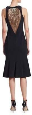 Theia Sleeveless Sequin Back Dress