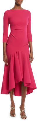 Chiara Boni Wilma High-Low Ruffle Cocktail Dress