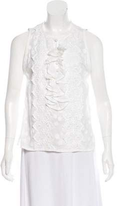 Andrew Gn Woven Sleeveless Top