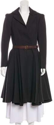 Lanvin Wool Notch-Lapel Coat