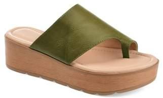 Brinley Co. Womens Comfort Platform Slip-on Sandal
