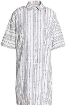 Derek Lam 10 Crosby Striped Linen And Cotton-Blend Mini Shirt Dress