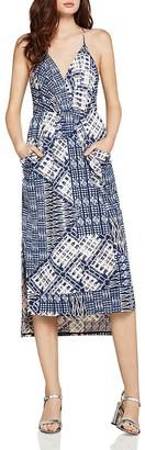 BCBGeneration Patchwork-Print Faux-Wrap Midi Dress $88 thestylecure.com
