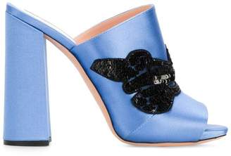 Rochas sequin embellished mules