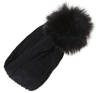 Baby Bling Faux Fur Pompom Headband $12 thestylecure.com