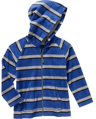 365 Kids From Garanimals Boys Long Sleeve Full Zip Stripe Fleece Hoodie