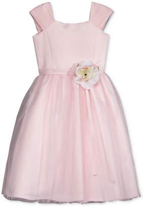 Us Angels Lavender by Floral Applique Dress, Little Girls