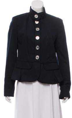Burberry Twill Stand Collar Jacket