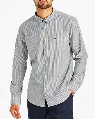 Jacamo Stripe Chambray Shirt Long