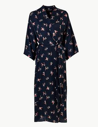 Marks and Spencer Satin Printed Long Dressing Gown