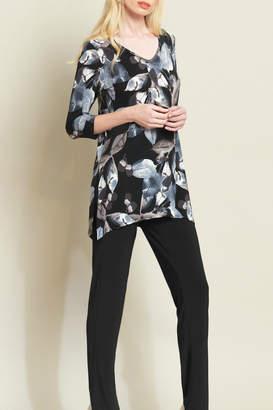 Clara Sunwoo Autumn Leaves Soft Knit V-neck Tunic