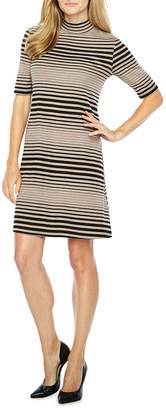 Ronni Nicole Short Sleeve Striped Shift Dress