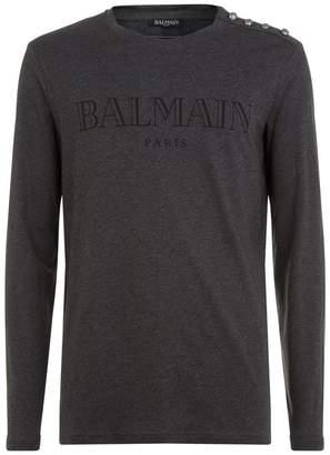 Balmain Logo Buttoned Top