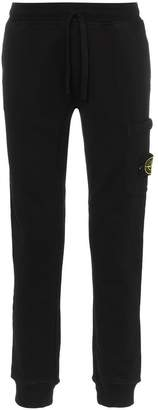 Stone Island logo patch cotton sweat pants