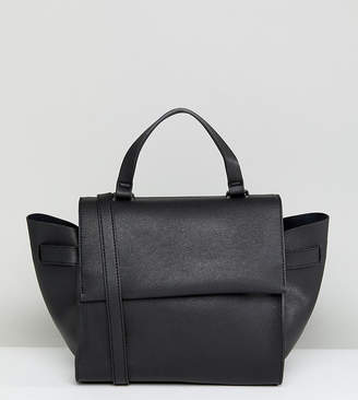 Glamorous Structured Tote Bag in Black With Cross Body Strap