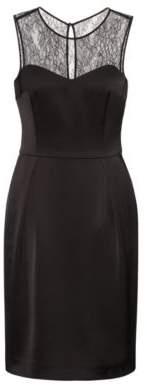 HUGO Boss Lace Sleeveless Dress Kovetta 4 Black