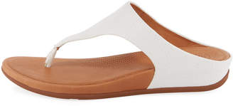 FitFlop Banda Snake-Embossed Thong Sandals