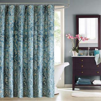 Asstd National Brand Windsor Cotton Paisley Shower Curtain