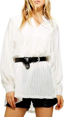 Topshop Stripe Tunic Blouse